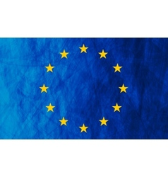 European union grunge flag vector image