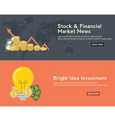 Flat design concepts for business finance stock vector
