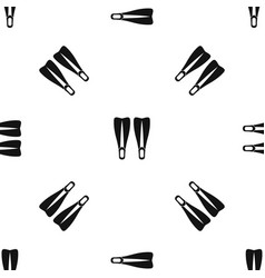 flippers pattern seamless black vector image