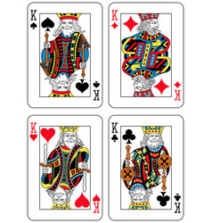 four kings french inspiration vector image