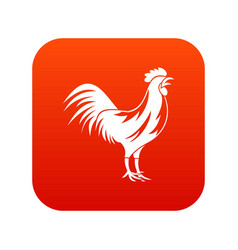 gallic rooster icon digital red vector image