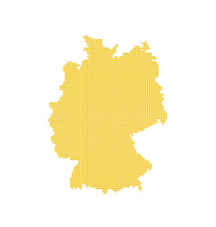 german map isolated dotted germany map yellow vector image
