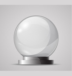 Glass sphere on a stand template for the magic vector