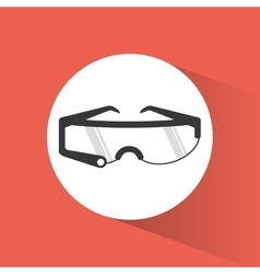 Glasses smart wearable technology shadow vector