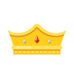 gold monarch crown award isolated on white vector image