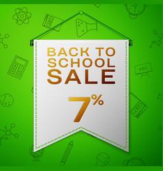 Grey pennant back to school sale seven percent vector