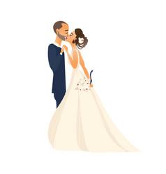 groom and pride kiss each other isolated vector image