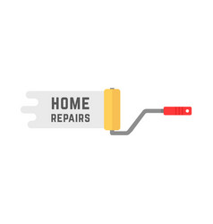 Home repairs logo with roller vector