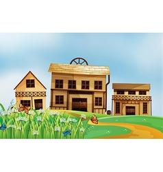 Houses in the neighborhood vector