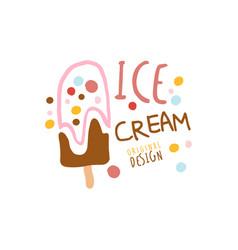 ice cream logo template original design element vector image