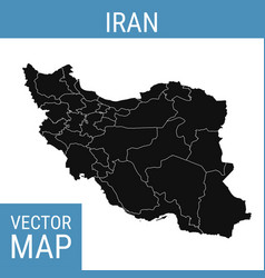 Iran map with title vector