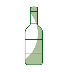 Isolated bottle of wine vector