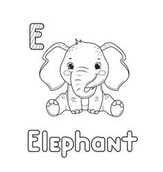 Line art design for kids coloring pageanimals vector