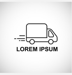 logo template for quick delivery truck vector image