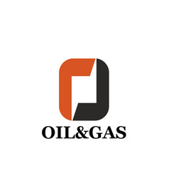 oil and gas icon for industrial corporate identity vector image