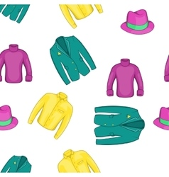 Outfits pattern cartoon style vector image
