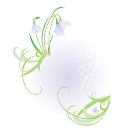 pastel snowdrop vector image