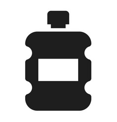plastic water bottle icon simple style vector image