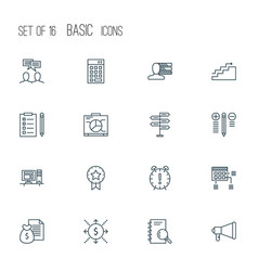 Project icons set collection of personal skills vector