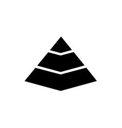 pyramid chart flat icon vector image
