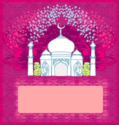 Ramadan background - mosque vector