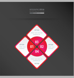 rectangle presentation neon pink vector image