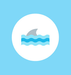 shark icon sign symbol vector image
