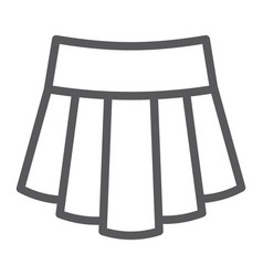 skirt line icon clothing and female girl clothes vector image