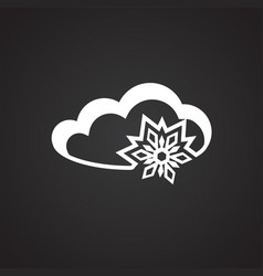 snow cloud on black background vector image