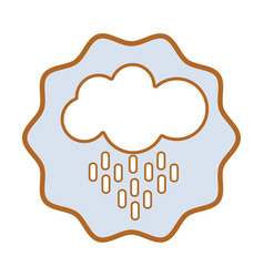 Symbol nice cloud raining image vector