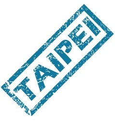 Taipei rubber stamp vector