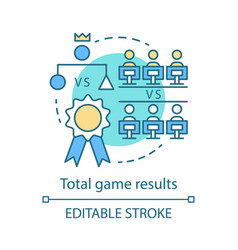 Total game result concept icon vector