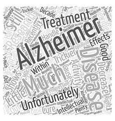 Treatment of dementia Word Cloud Concept vector