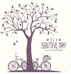 Tree and bikes vector