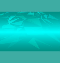 Turquoise shades random sizes triangle background vector