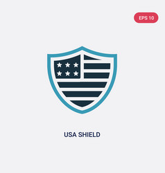 two color usa shield icon from united states of vector image