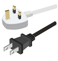 Uk and usa plug vector