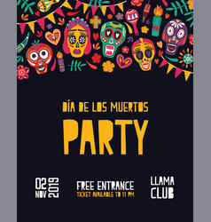 vertical festive party invitation template vector image