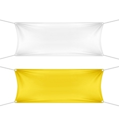 White and Yellow Blank Empty Horizontal Banners vector image