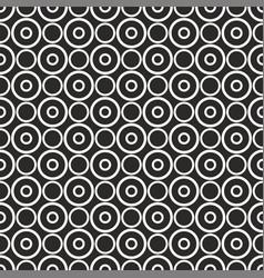 white polka dots on black background pattern vector image