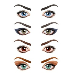 Womans eyes with make-up vector