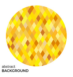 yellow circle of rhombuses vector image