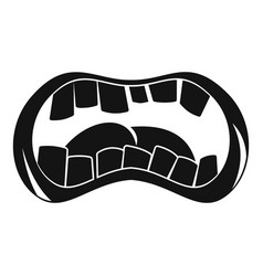 Zombie mouth icon simple style vector