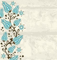 Floral board vector image
