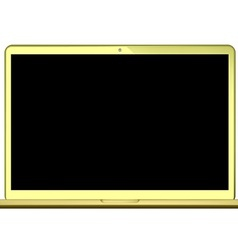 laptop gold vector image