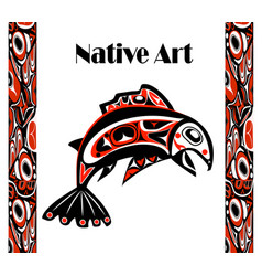 native salmon vector image