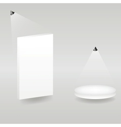 Bright stage with spot lights vector image