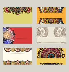 colorful business cards vector image