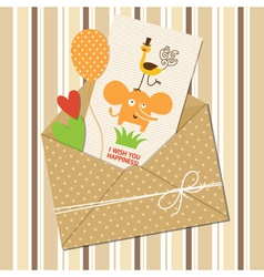 Cute children greeting card vector