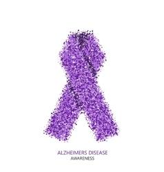 Modern alzheimers disease awareness circles vector